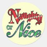 Naughty or Nice Christmas Stickers