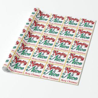 Naughty or Nice Christmas Wrapping Paper