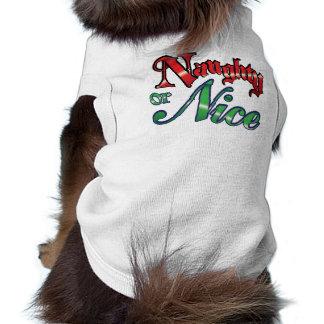 Naughty or Nice Dog Shirt