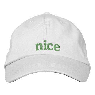 Naughty or Nice Hat Nice Embroidered Baseball Caps