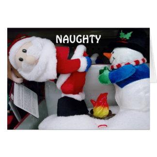 NAUGHTY OR NICE MERRY CHRISTMAS GREETING CARD