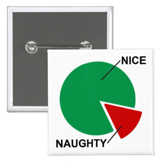 Naughty or Nice Pie Chart funny christmas button