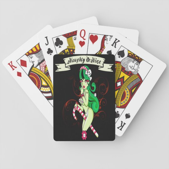 Naughty Or Nice Playing Cards