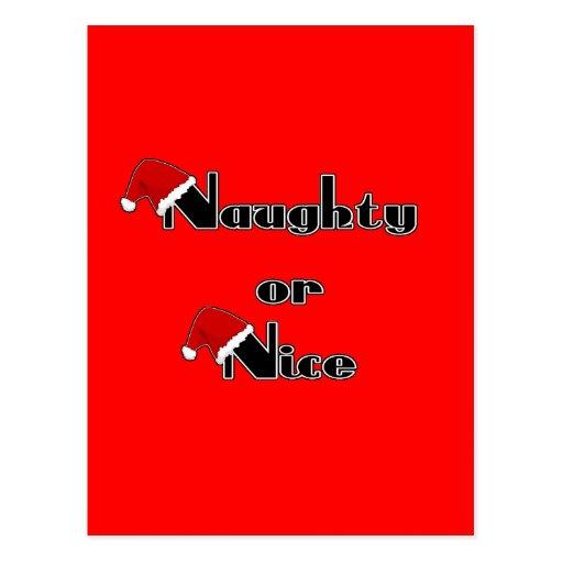 Naughty or Nice Postcards