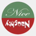 Naughty or Nice Round Sticker