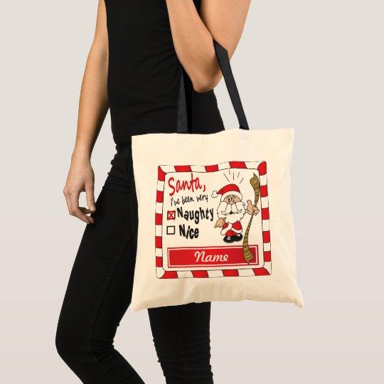 Naughty or Nice Santa Gift Bag | DIY Name