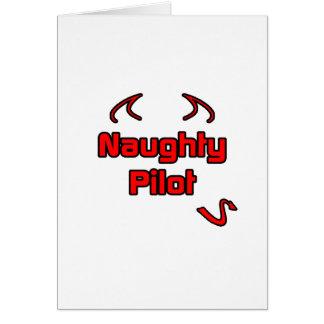 Naughty Pilot Card