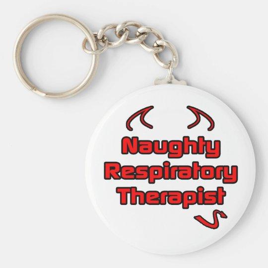Naughty Respiratory Therapist Basic Round Button Key Ring