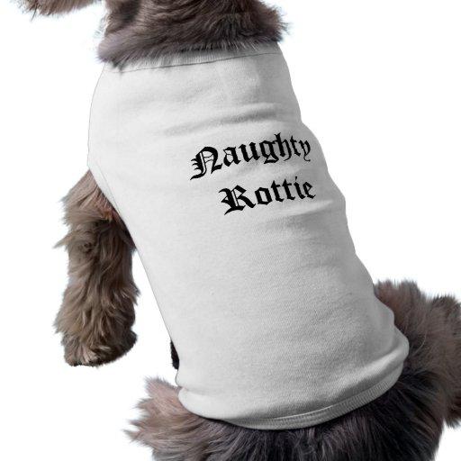 Naughty Rottie Dog Tshirt