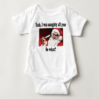 Naughty Santa with quill pen. T-shirts