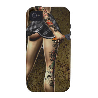 Naughty Schoolgirl iPhone 4 Case-Mate Tough iPhone 4/4S Cover