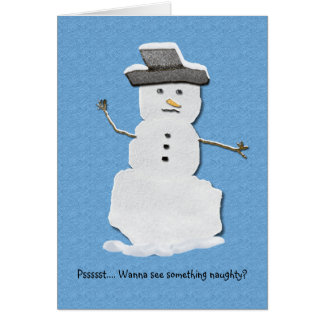 Naughty Snowman Card