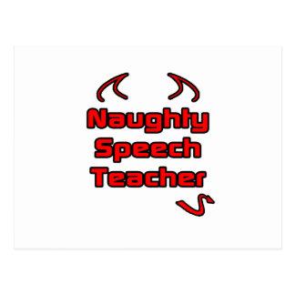 Naughty Speech Teacher Postcard