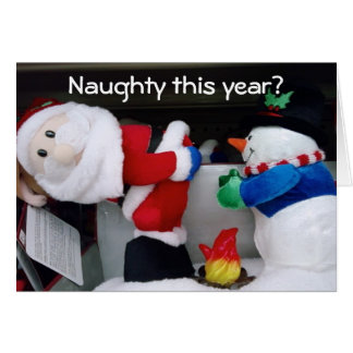 NAUGHTY THIS YEAR- GOOD AND MERRY CHRISTMAS GREETING CARD