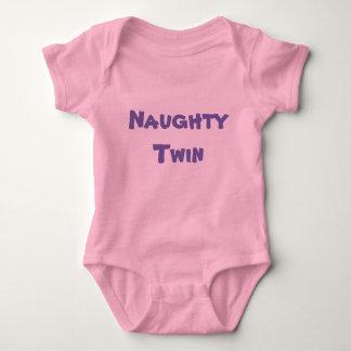Naughty Twin / Nice Twin - (Part 1 of 2) Girl Baby Bodysuit
