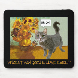 Naughty Van Gogh Cat 3 Mouse Mat