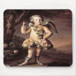 Naughty Vintage Cupid Pointing His Finger Mouse Pads