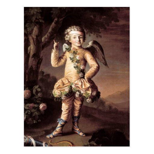 Naughty Vintage Cupid Pointing His Finger Post Card