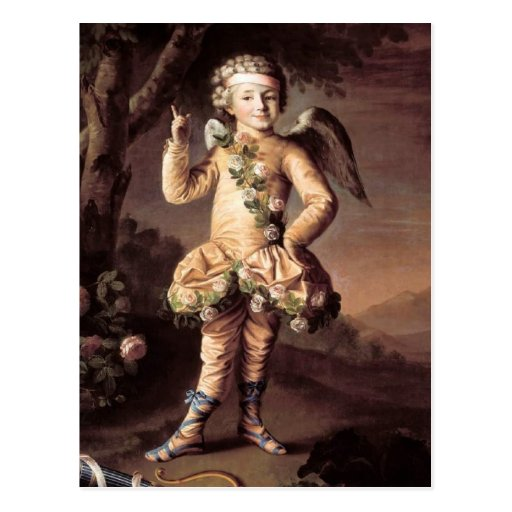 Naughty Vintage Cupid Pointing His Finger Postcards