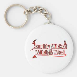 Naughty Wicked Witch Basic Round Button Key Ring