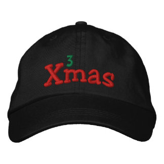 Naughty Xmas Embroidery Embroidered Hats