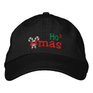 Naughty Xmas HO3 Candy Canes Embroidery Embroidered Baseball Caps