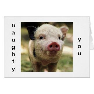 NAUGHTY YOU-LUCKY ME CHRISTMAS PIGGY CARD
