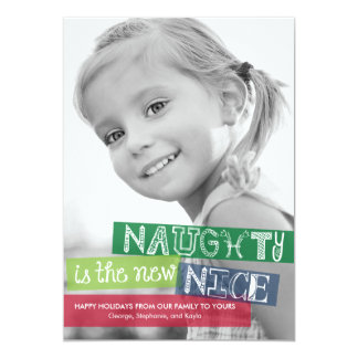 NaughtyIs The New Nice Holiday Photo Cards