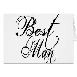 Naughy Grunge Script - Best Man Black Cards
