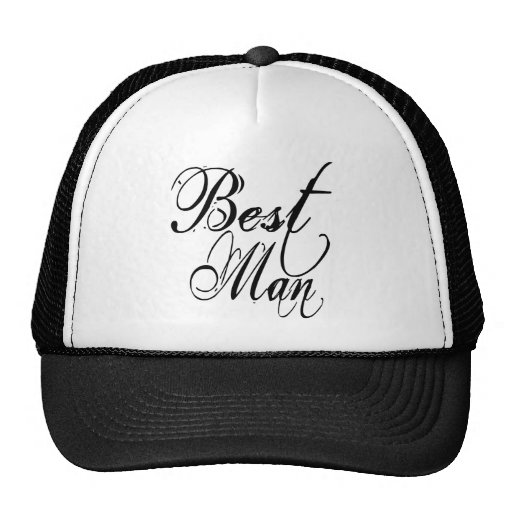 Naughy Grunge Script - Best Man Black Mesh Hats