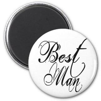Naughy Grunge Script - Best Man Black Refrigerator Magnet