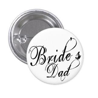 Naughy Grunge Script - Bride s Dad Black Pins