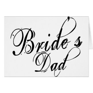 Naughy Grunge Script - Bride's Dad Black Card