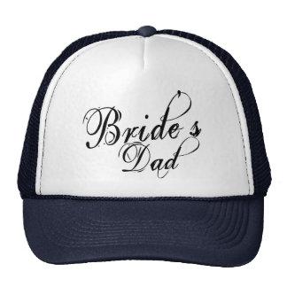 Naughy Grunge Script - Bride's Dad Black Mesh Hats