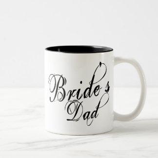 Naughy Grunge Script - Bride's Dad Black Mugs