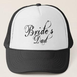 Naughy Grunge Script - Bride's Dad Black Trucker Hat