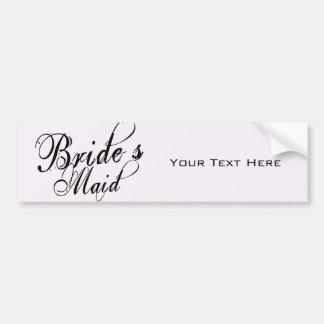 Naughy Grunge Script - Bride's Maid Black Bumper Sticker