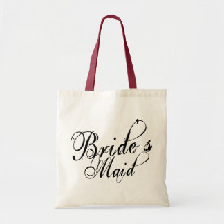 Naughy Grunge Script - Bride's Maid Black Tote Bag