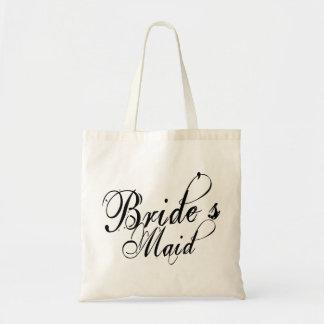 Naughy Grunge Script - Bride's Maid Black Tote Bag