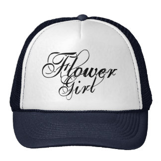 Naughy Grunge Script - Flower Girl Black Cap