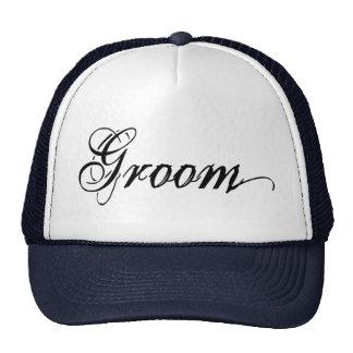Naughy Grunge Script - Groom Black Cap