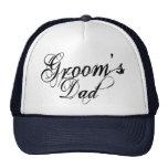 Naughy Grunge Script - Groom's Dad Black Cap