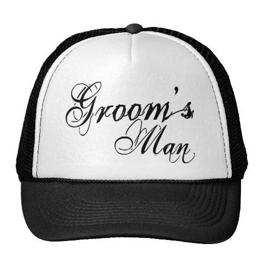 Naughy Grunge Script - Groom's Man Black Hat