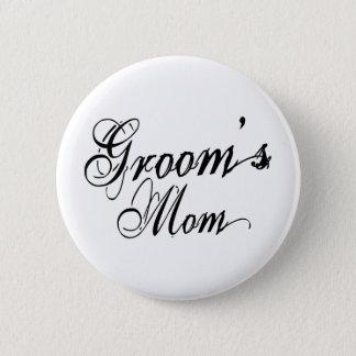 Naughy Grunge Script - Groom's Mom Black 6 Cm Round Badge