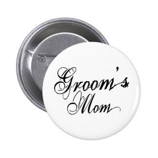 Naughy Grunge Script - Groom's Mum Black Buttons