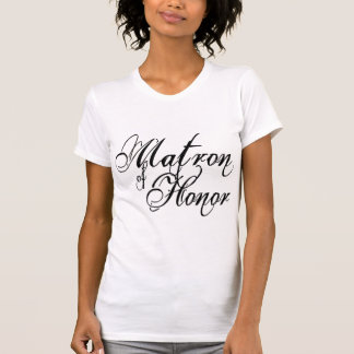 Naughy Grunge Script - Matron Of Honor Black T-Shirt