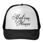 Naughy Grunge Script - Matron Of Honour Black Cap