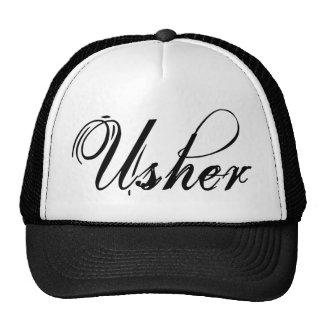 Naughy Grunge Script - Usher Black Mesh Hats