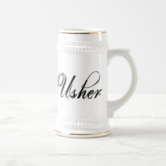 Naughy Grunge Script - Usher Black Coffee Mugs