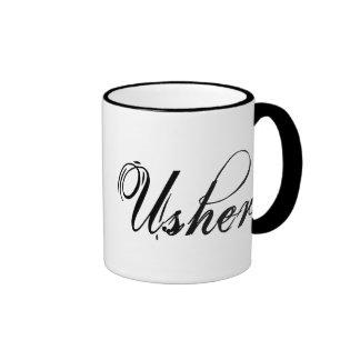 Naughy Grunge Script - Usher Black Mug